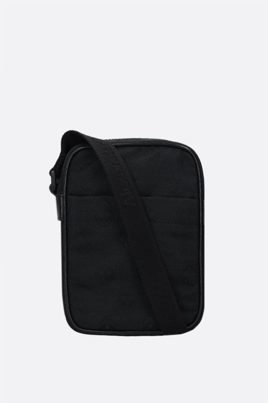 ALEXANDER McQUEEN: Urban mini nylon messenger bag Color Black_1
