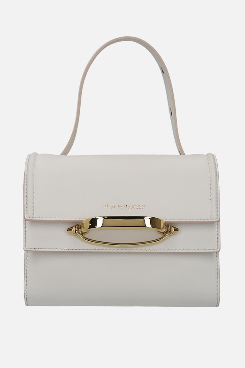 ALEXANDER McQUEEN: The Story smooth leather crossbody bag Color White_1