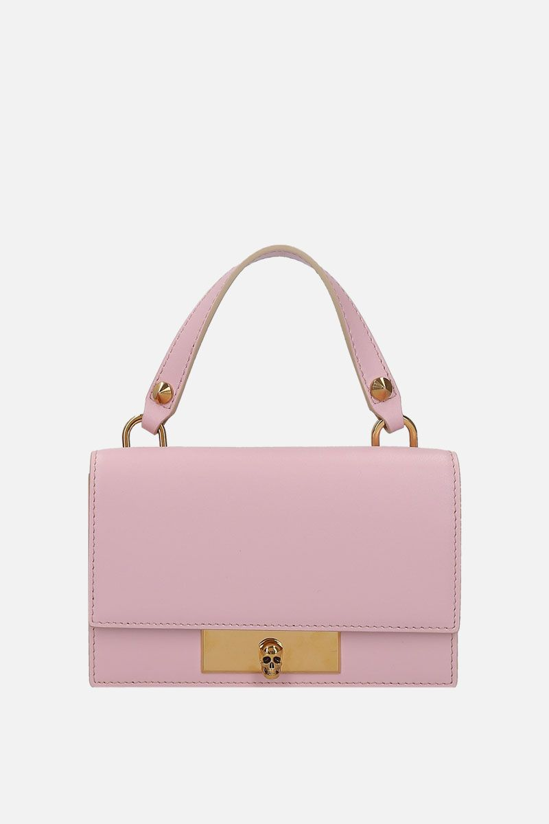 ALEXANDER McQUEEN: smooth leather Skull-lock bag Color Pink_1