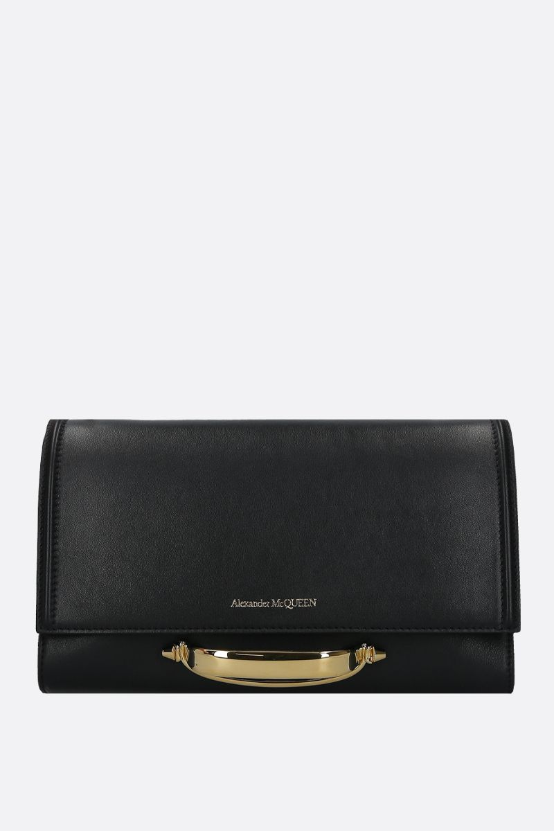 ALEXANDER McQUEEN: The Story small smooth leather shoulder bag Color Black_1