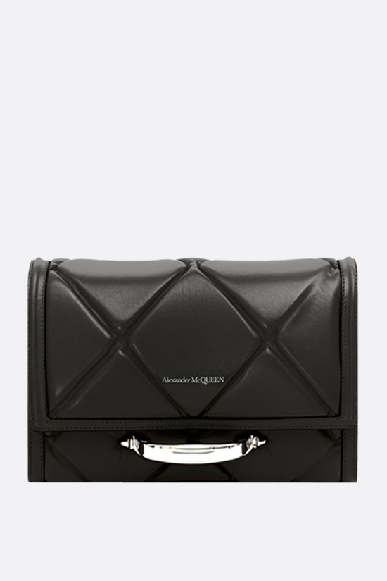 ALEXANDER McQUEEN: The Story quilted leather shoulder bag Color Black_1