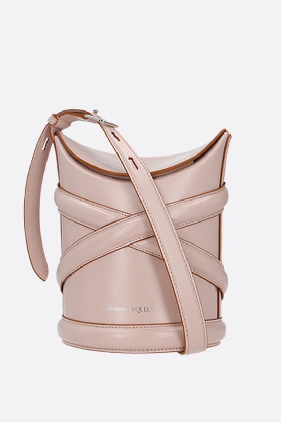 ALEXANDER McQUEEN: The Curve small smooth leather Color Pink_1