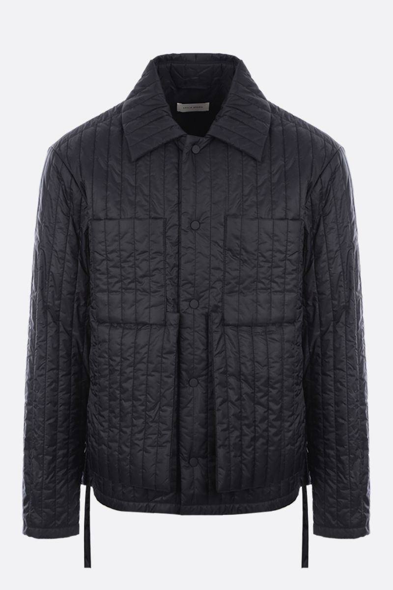 CRAIG GREEN: quilted nylon overshirt Color Black_1