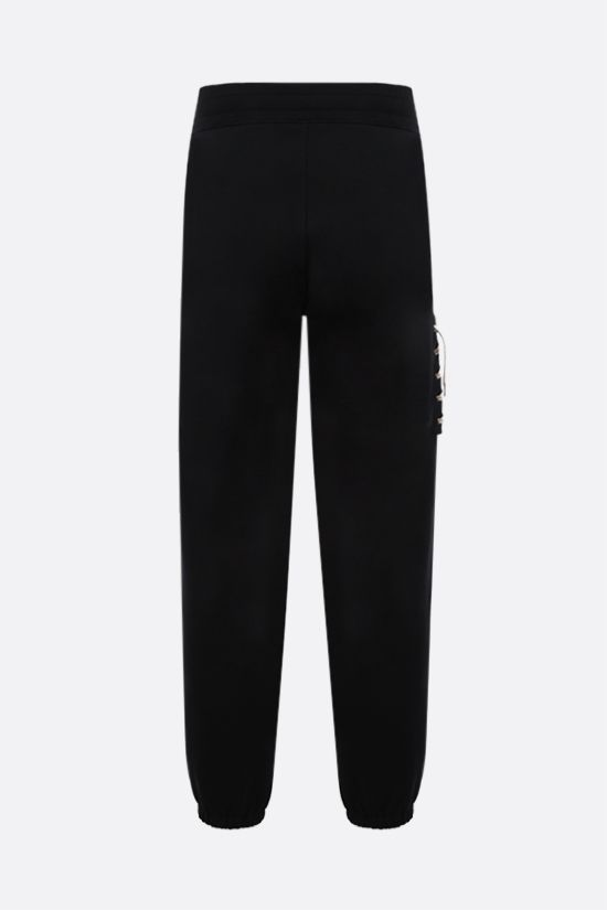 CRAIG GREEN: lace-embellished cotton joggers Color Black_2