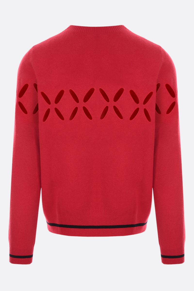 STEFAN COOKE: cut-out wool pullover Color Red_2