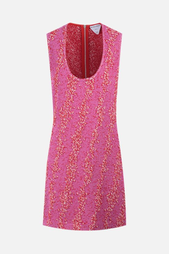 BOTTEGA VENETA: bouclè short dress Color Pink_1