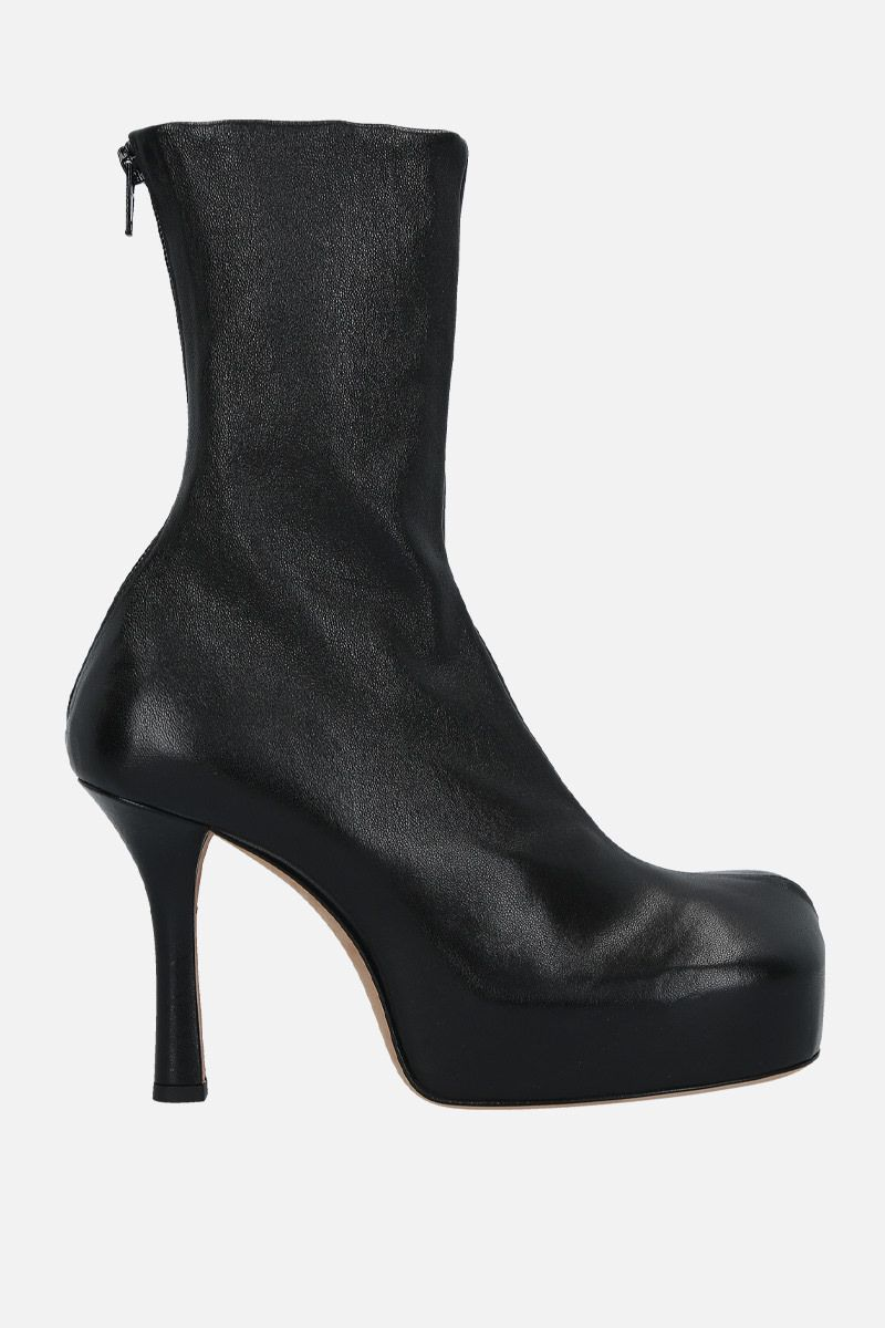 BOTTEGA VENETA: BV Bold stretch nappa booties Color Black_1