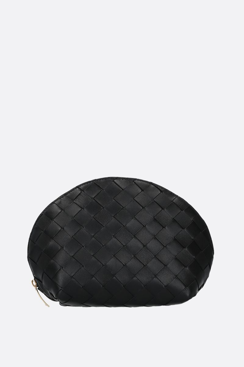 BOTTEGA VENETA: Intrecciato nappa beauty case Color Black_1