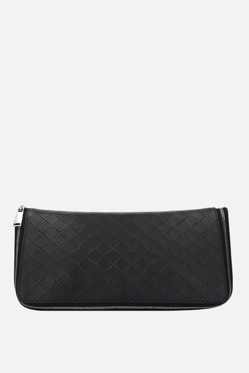 BOTTEGA VENETA: embossed Maxi Intrecciato beauty case Color Black_1