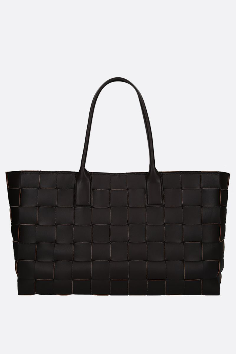BOTTEGA VENETA: medium tote in Maxi Intrecciato Color Brown_1