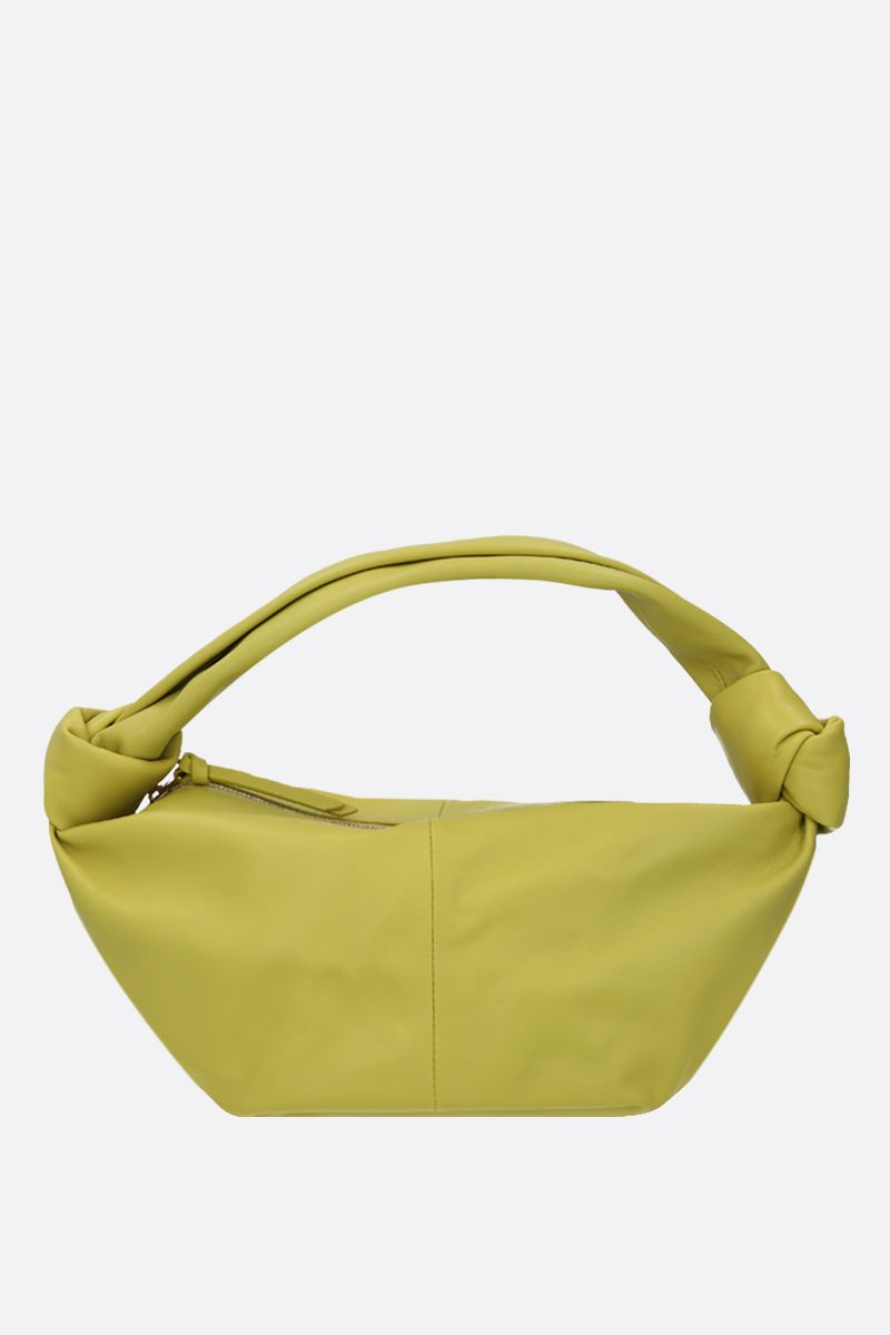 BOTTEGA VENETA: smooth leather mini handbag Color Green_1