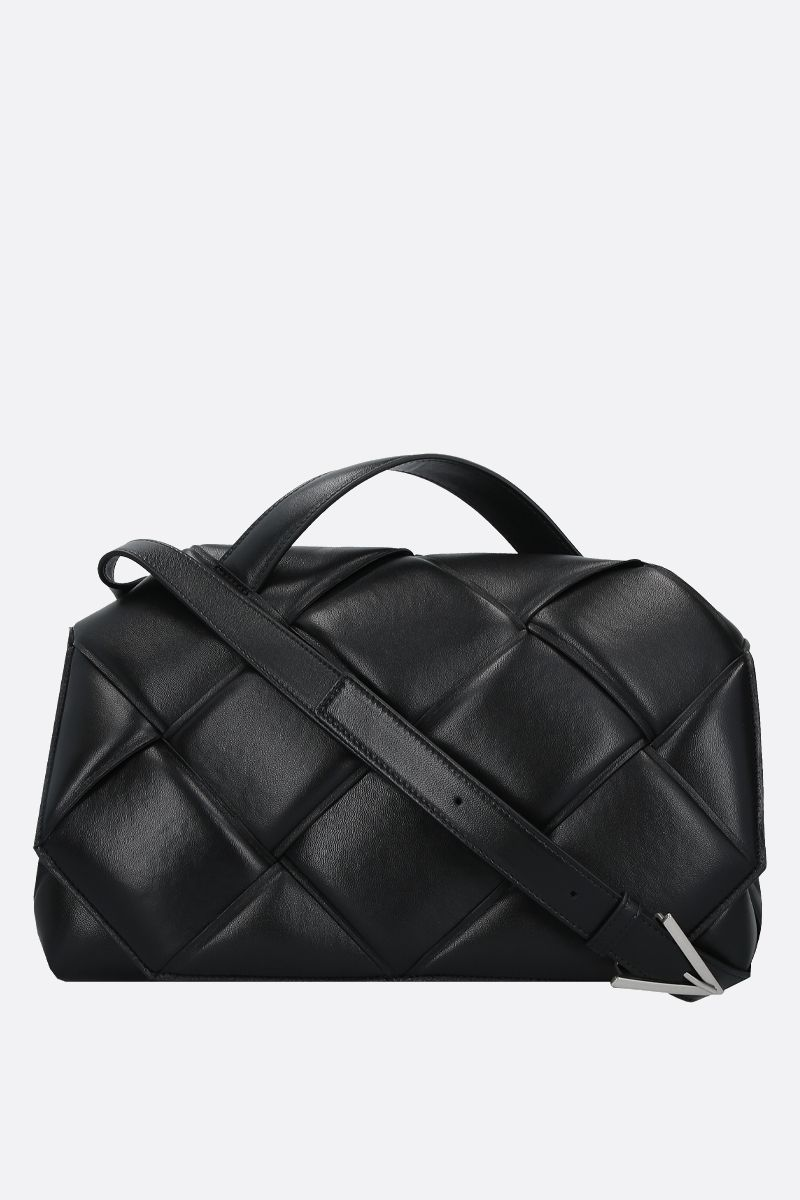 BOTTEGA VENETA: padded Intrecciato nappa handbag Color Black_1