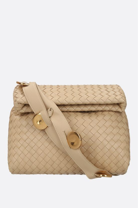 BOTTEGA VENETA: BV Fold crossbody bag in Intrecciato nappa Color Neutral_1