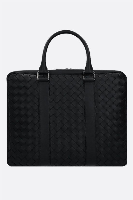 BOTTEGA VENETA: Intrecciato Hidrology business bag Color Black_1