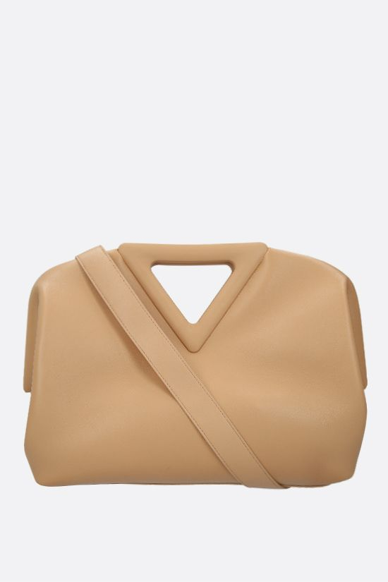 BOTTEGA VENETA: The Triagle smooth leather handbag Color Neutral_1