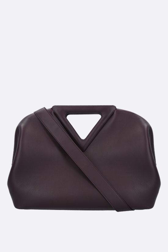 BOTTEGA VENETA: The Triagle smooth leather handbag Color Purple_1