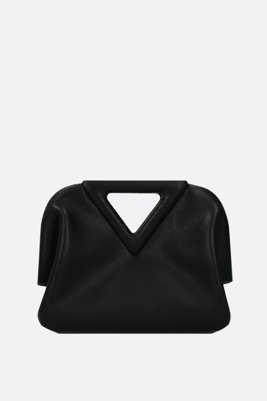 BOTTEGA VENETA: The Triangle mini smooth leather handbag Color Black_1