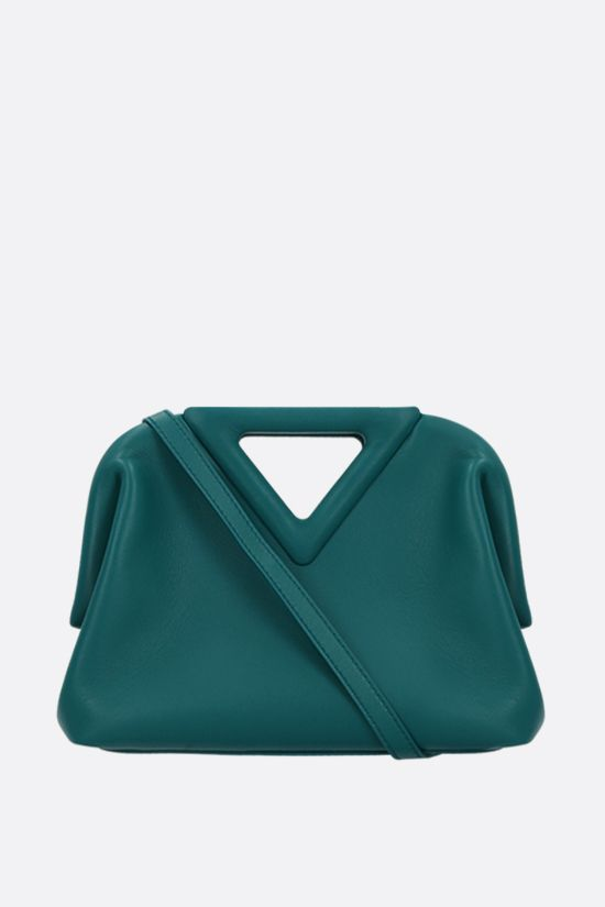 BOTTEGA VENETA: Point mini smooth leather handbag Color Blue_1