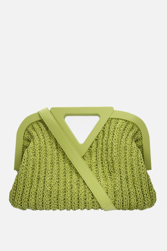 BOTTEGA VENETA: Point medium crochet nappa handbag Color Green_1