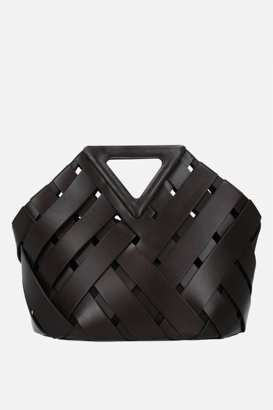 BOTTEGA VENETA: Basket Point handbag in Intrecciato leather Color Brown_1