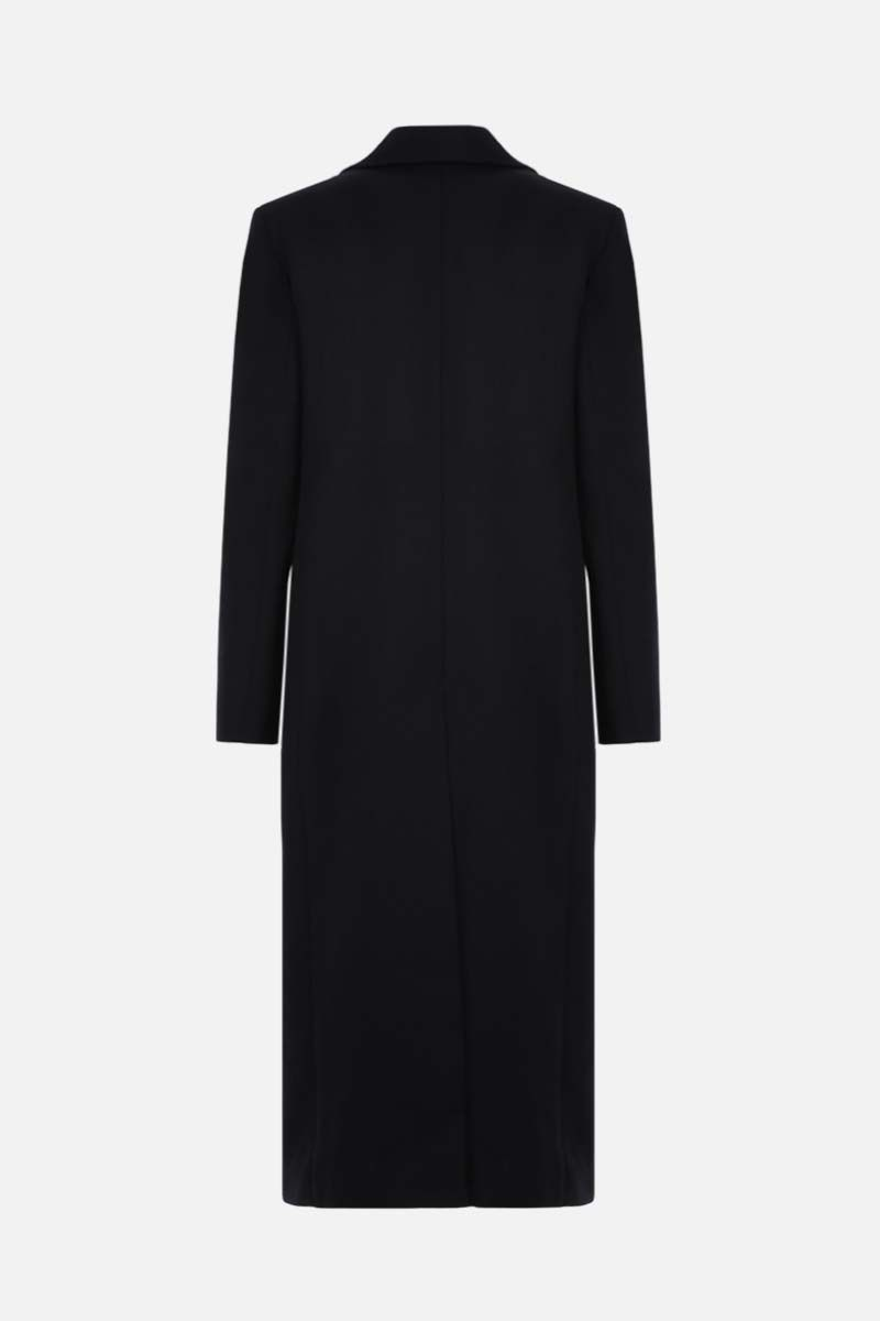 BOTTEGA VENETA: single-breasted stretch twill coat Color Black_2