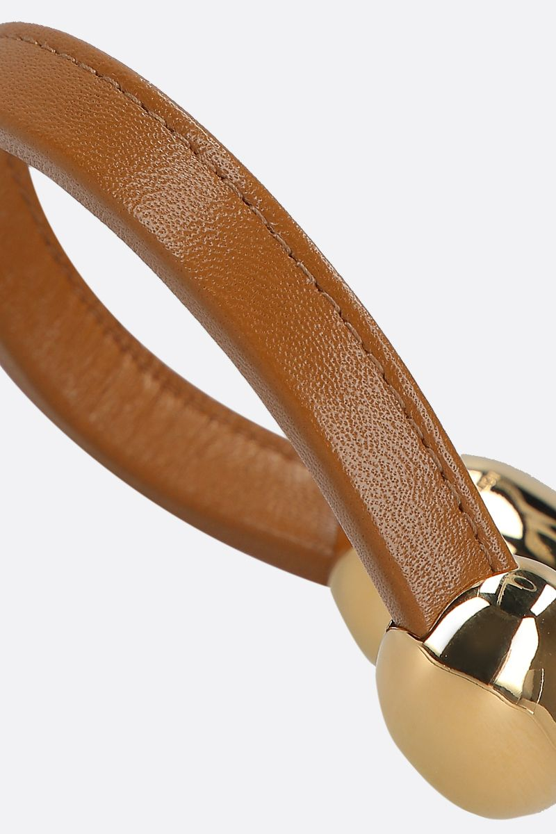 BOTTEGA VENETA: soft nappa leather bracelet Color Brown_2