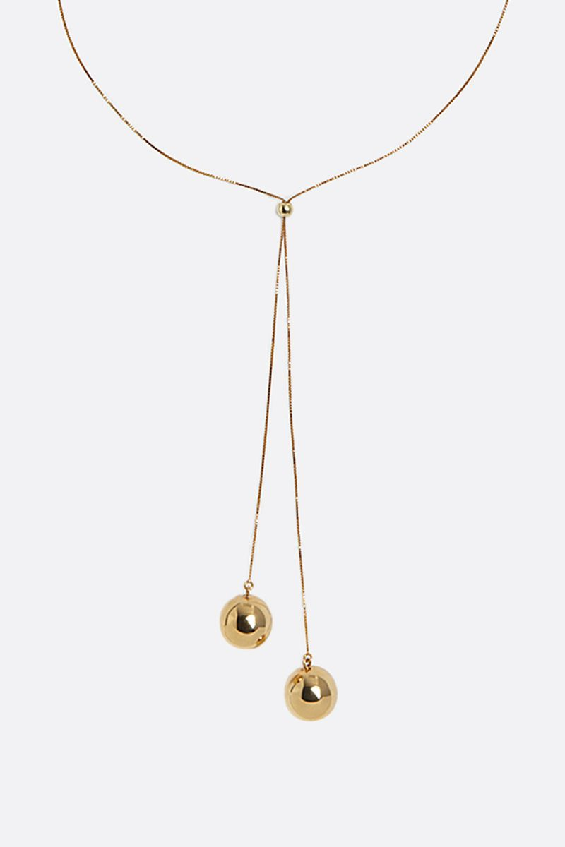 BOTTEGA VENETA: sterling silver necklace Color Gold_2