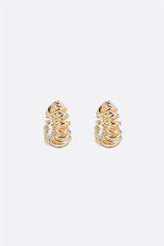 BOTTEGA VENETA: 18-karat gold-plated sterling silver earrings Color Gold_2