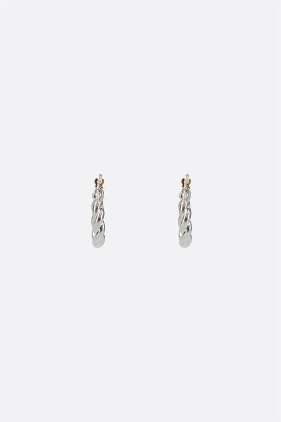 BOTTEGA VENETA: sterling silver hoop earrings Color Silver_2