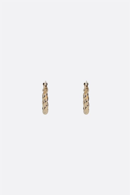 BOTTEGA VENETA: 18-karat gold-plated sterling silver hoop earrings Color Gold_2