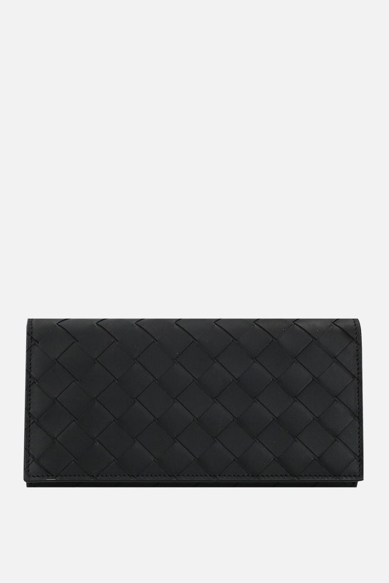 BOTTEGA VENETA: Intrecciato nappa continental wallet Color Black_1