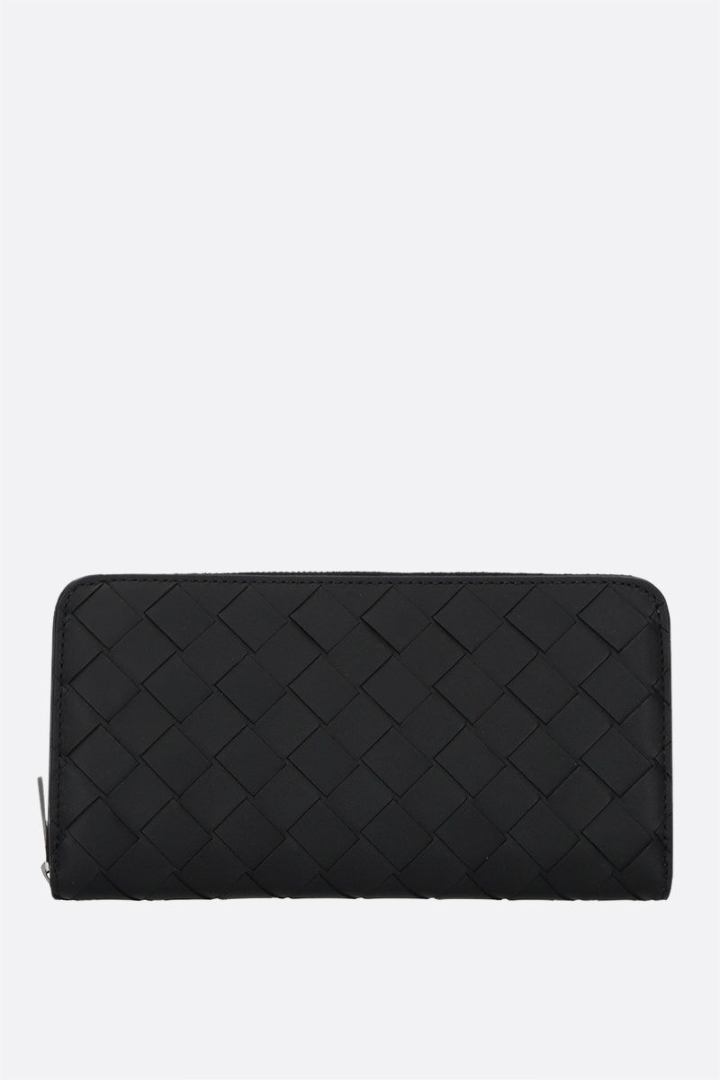 BOTTEGA VENETA: Intrecciato VN zip-around wallet Color Black_1