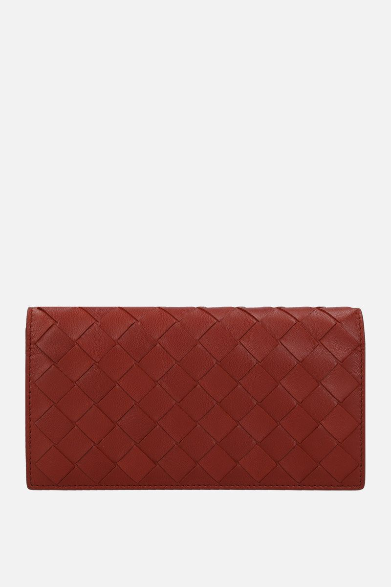 BOTTEGA VENETA: Intrecciato nappa continental wallet Color Red_1