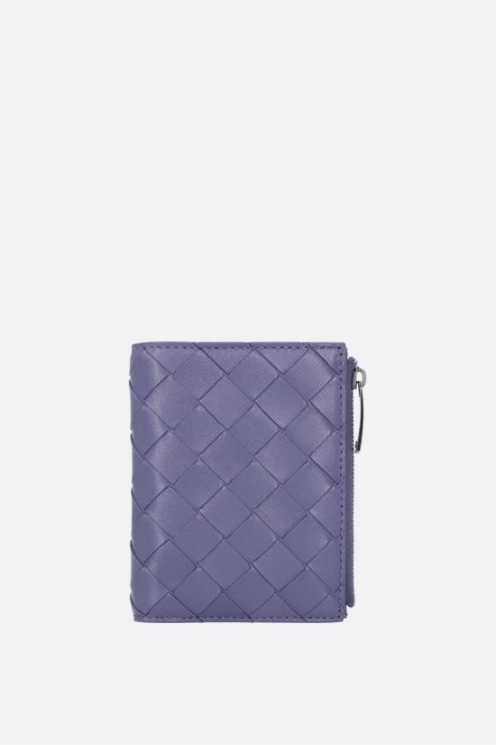 BOTTEGA VENETA: Intrecciato nappa flap wallet Color Purple_1
