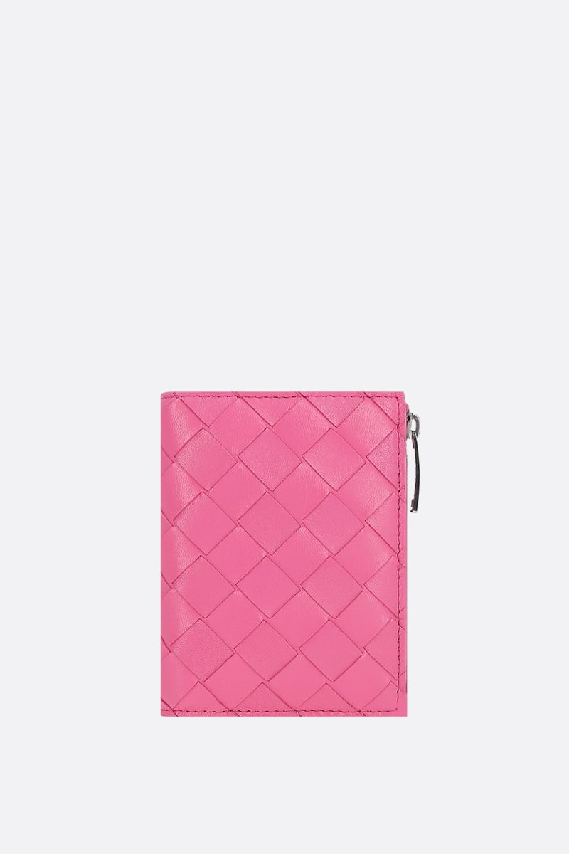 BOTTEGA VENETA: Intreciato nappa flap wallet Color Pink_1