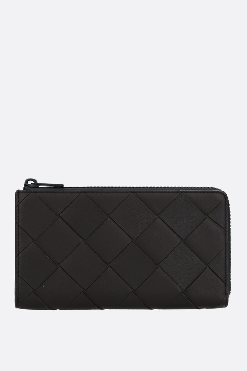 BOTTEGA VENETA: Intrecciato nappa half-zip wallet Color Multicolor_1