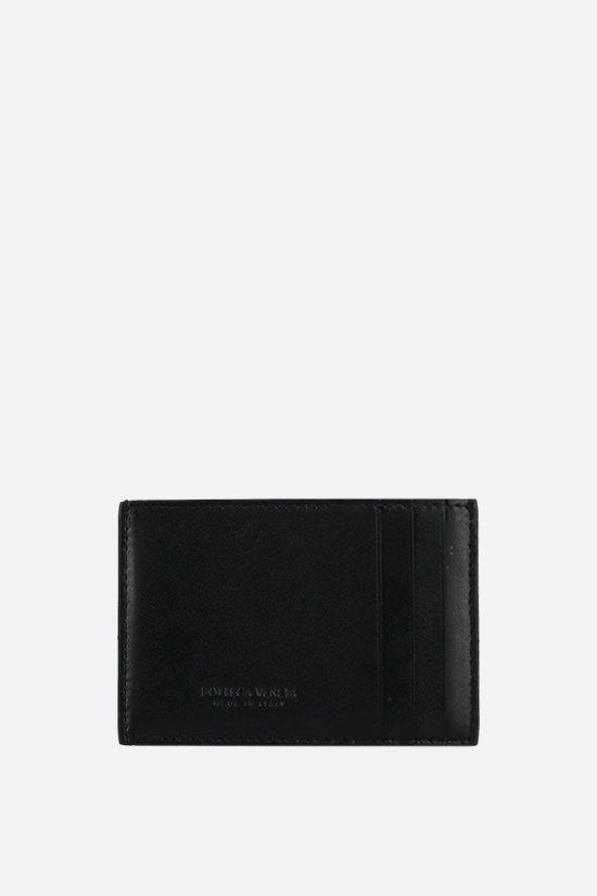 BOTTEGA VENETA: Maxi Intrecciato VN card case Color Black_1