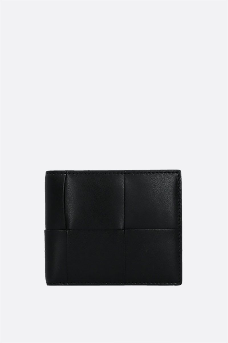BOTTEGA VENETA: Maxi Intrecciato billfold wallet Color Black_1