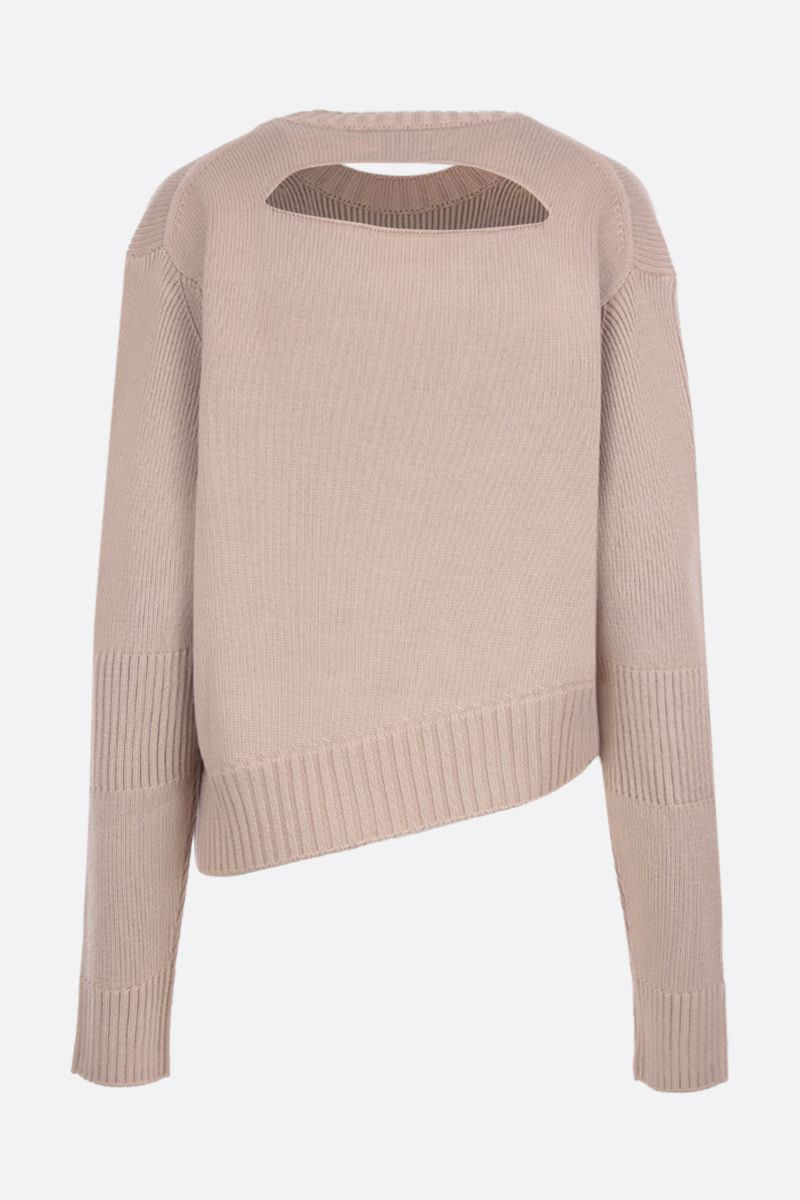BOTTEGA VENETA: wool blend pullover with opening detail Color Grey_3