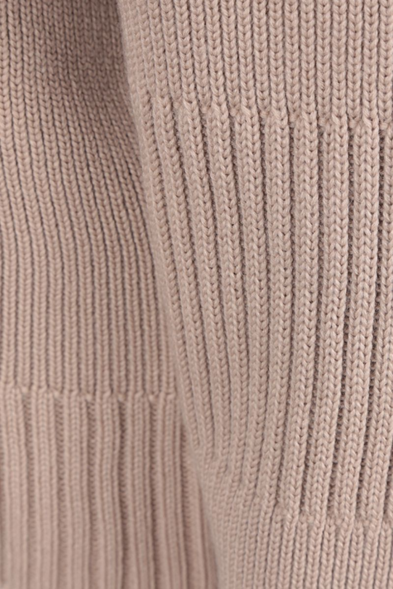BOTTEGA VENETA: wool blend pullover with opening detail Color Grey_4