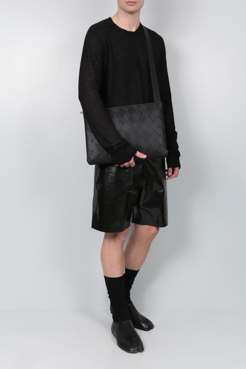 BOTTEGA VENETA: ultralight cashmere pullover Color Black_2