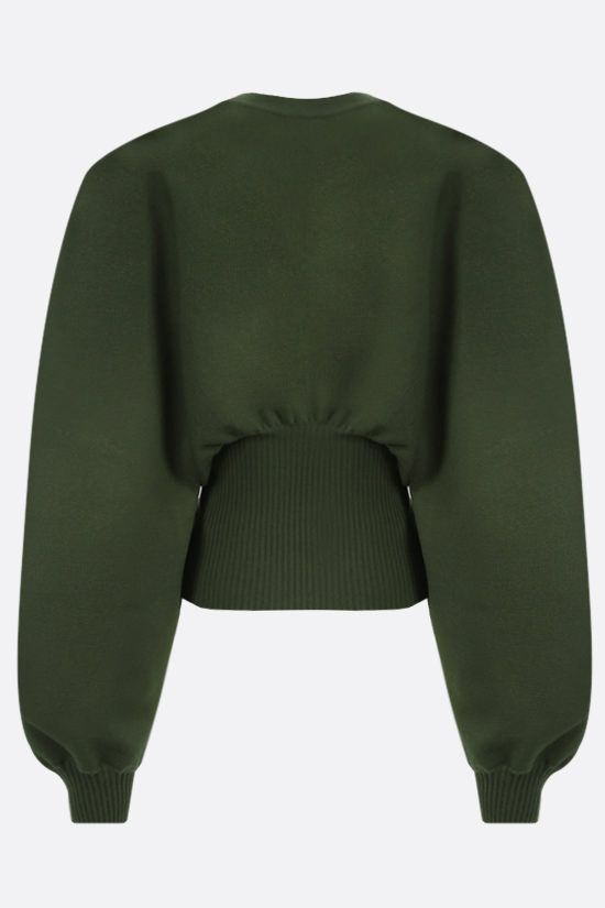 BOTTEGA VENETA: puff sleeve-detailed technical wool pullover Color Animalier_2