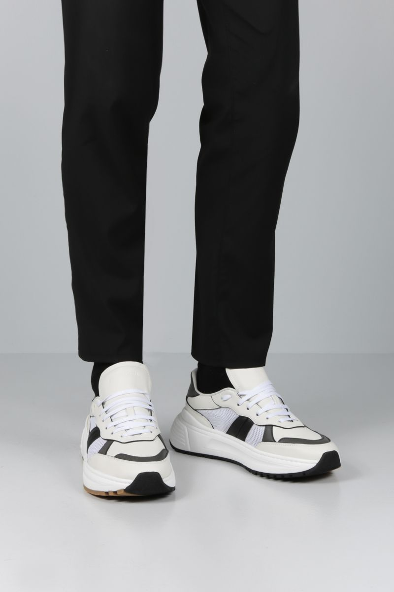 BOTTEGA VENETA: Speedstar sneakers in smooth leather and mesh Color White_2