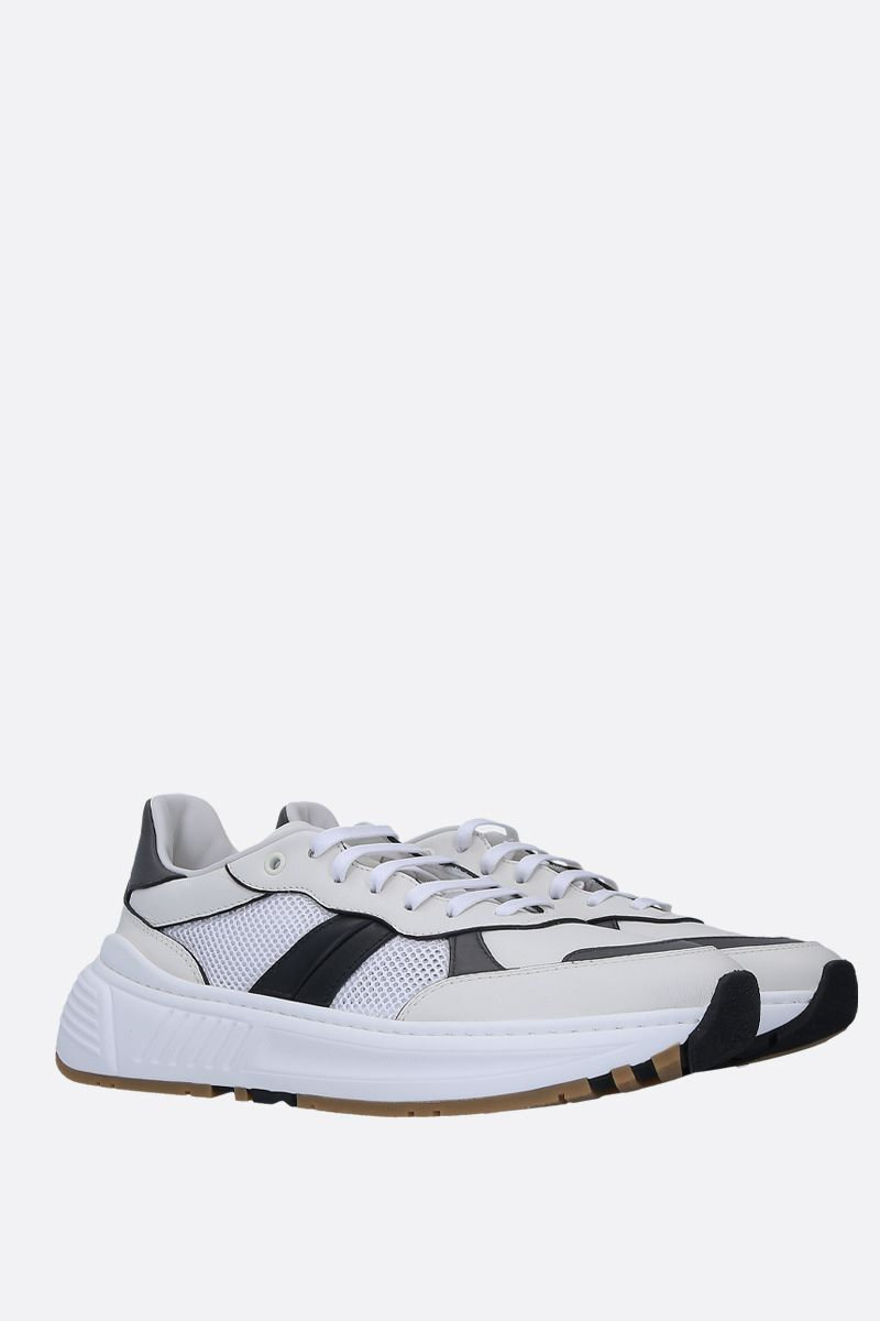BOTTEGA VENETA: Speedstar sneakers in smooth leather and mesh Color White_3