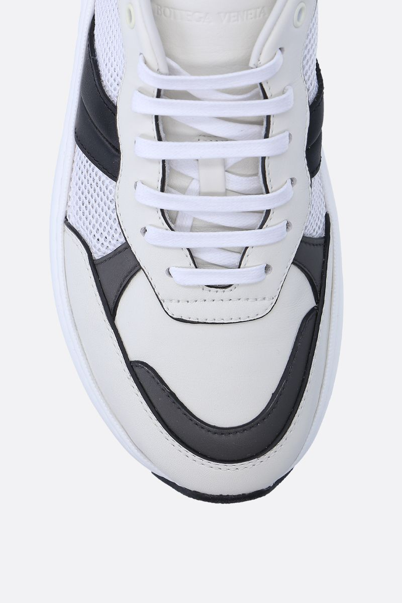 BOTTEGA VENETA: Speedstar sneakers in smooth leather and mesh Color White_5