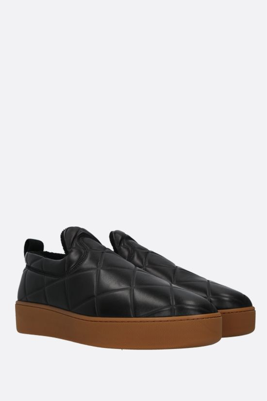 BOTTEGA VENETA: BV Quilt quilted nappa sneakers Color Black_2