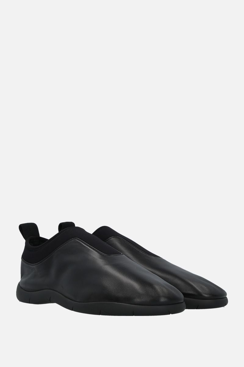 BOTTEGA VENETA: soft nappa and neoprene slip-on sneakers Color Black_2
