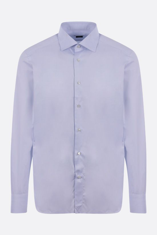 ERMENEGILDO ZEGNA: Trofeo cotton shirt Color Blue_1