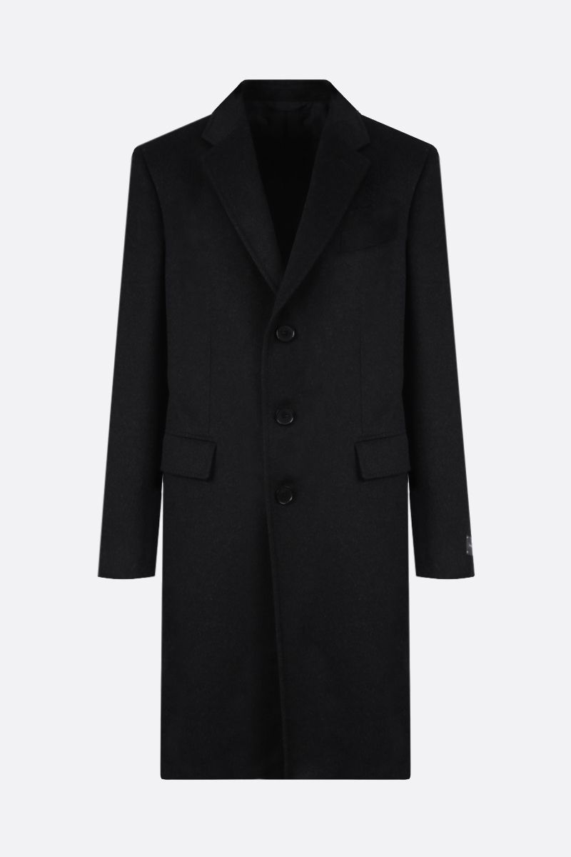 ERMENEGILDO ZEGNA: wool cahsmere blend single-breasted coat Color Grey_1