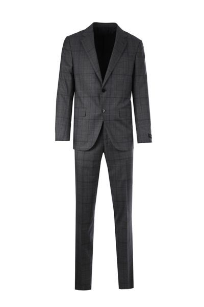 ERMENEGILDO ZEGNA: Milano Easy wool two-pieces suit Color Grey_1